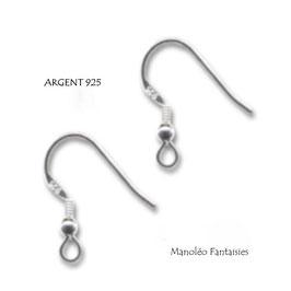 ♥ ARGENT ♥ La paire de crochets en ARGENT 925 (2 pièces)