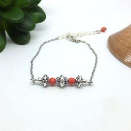 SOLAL - Bracelet fin bohème corail perles