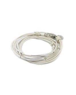 YOU blanc ♥  Bracelet en cuir
