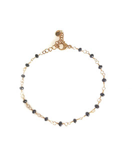 KIAN - bracelet doré perles noires