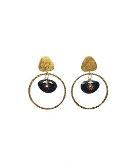 LAURA - Boucles d'oreilles dorées