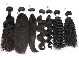 9pcs Sample Mink Business Starter Package  mix for displaying Mink Virgin Brazilian Hair