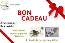 BON CADEAU - CONSULTATION EN NATUROPATHIE (à distance) + FASCICULE DE REPAS AU CHOIX