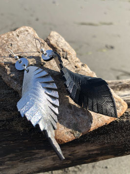 Silver Star Feather - Ohrstecker