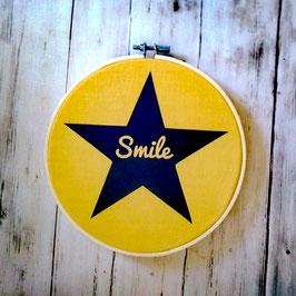 """Cadre tambour """"smile"""""""