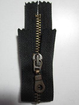 Metall Reißverschluß von R 12 cm Farbe : Schwarz