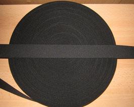 (0,56 €/Meter)  35 mm Breit Gummiband schwarz 50 Meter
