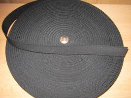 (1,00 €/Meter)  25 mm Breit Gummiband schwarz 6 Meter