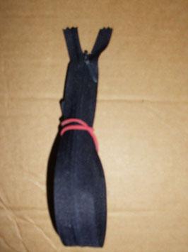 (1,60 € / Stück)   5 x 25 cm Verdeckte Reißverschlüsse von Opti Farbe : Dunkelblau