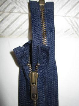 Teilbaren Metall Reißverschluß von YKK Blau 80 cm