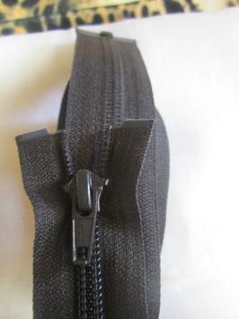 Teilbaren Reißverschluß von YKK 80 cm Farbe : Dunkelbraun