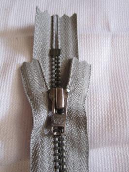 Metall Reißverschluß 16 cm von YKK Farbe : Grau