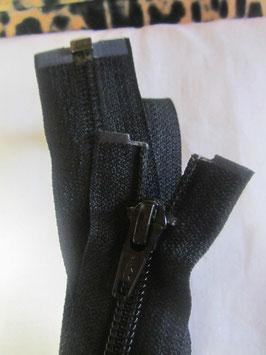 Teilbaren Reißverschluß von YKK 80 cm Farbe : Schwarz
