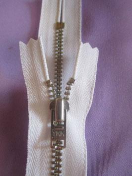 Hosen & Jeanshosen Reißverschluß von YKK 14 cm Farbe : Weiß