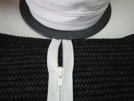 1 m Stabile Endlose Reißverschluss ca : 6 mm mit 1 Schieber Weiß