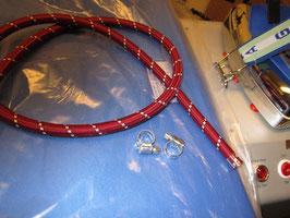 (7,20 €/ m)   2,5 m Silikonschlauch Schlauch für Dampf Bügeleisen mit 2 Schlauchschellen