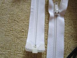 1 x Teilbaren Reißverschluß 125 cm Farbe : Weiß