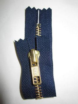 1 x Jeanshosen Reißverschluß von YKK 12 cm Farbe : Dunkelblau