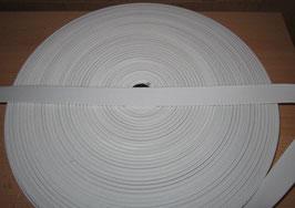 (0,52 €/Meter)  20 mm Breit Gummiband weiß 50 Meter