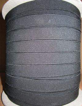 (0,95 €/Meter)  15 mm Breit Gummiband schwarz 6 Meter