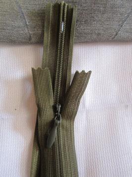 (2,40 € / Stück)   2 Verdeckte Reißverschlüsse von EP Dunkelgrün Länge : 39 cm