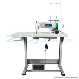 Industrienähmaschine ZOJE ZJ-A6000-5-G Z SET  Schnellnäher für mittlere und schwere Stoffe  mit automatischer  Nadelpositionierung, Servomotor Bedienfeld im Kopf