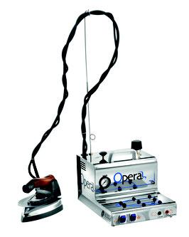 BATTISTELLA OPERA 1,7 Liter Dampferzeuger Bügelanlage Bügelstation mit Kessel aus Edelstahl mit Spezial Bügeleisen + Teflonsohle