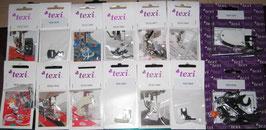 Nähfüße Nähfuß für Haushaltnähmaschinen von TEXI 14 verschiedene Füße zu Auswahl