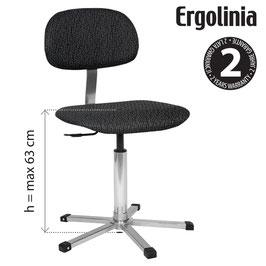 ERGOLINIA EVO2 Industrie-Drehstuhl gepolstert - Gasdruckfeder