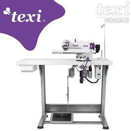 TEXI ACCURA Blindstichmaschine für leichte und mittlere Stoffe mit AC Servo Motor und Nadelpositionierung - komplette Maschine