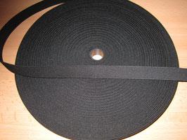 (0,95 €/Meter)  20 mm Breit Gummiband schwarz 6 Meter