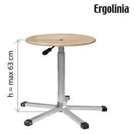 ERGOLINIA EVO3 Industrie-Drehhocker [Schichtholzausführung] - Gasdruckfeder