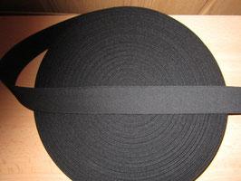 (0,06 €/Meter)  40 mm Breit Gummiband schwarz 50 Meter