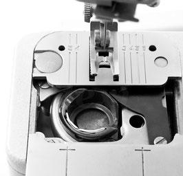 Spulenkapsel für Haushaltsnähmaschinen mit Rotationsgreifer