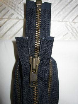 Teilbaren Metall Reißverschluß von YKK Dunkelblau 80 cm
