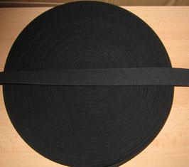 (1,05 €/Meter)  30 mm Breit Gummiband schwarz 6 Meter