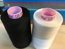 (0,22€/100m) 5000 m Polyester AMANN SABA Nähgarne Stärke 120  2 Farben Auswahl