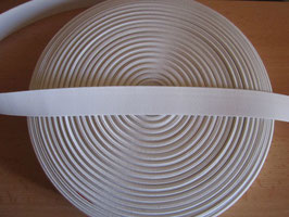 (1,05 €/Meter)  30 mm Breit Gummiband weiß 6 Meter