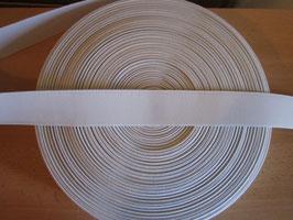 (0,06 €/Meter)  40 mm Breit Gummiband weiß 50 Meter