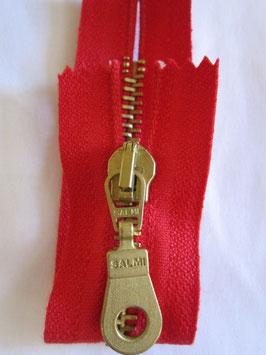 Metall Reißverschluß von Salmi 12 cm Farbe : Rot