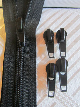 (2,00 € / Stück)   2 Schieber für 5-6 mm Kunststoff Spirale Reißverschlüße