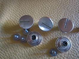 (0,09 € / Stück)   5 Moderne Metall Jeansknöpfe