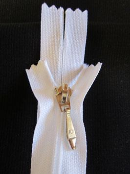 (1,90 € / Stück)   2 Qualität Reißverschlüße für Röcke & Taschen usw 20 cm Farbe :Weiß