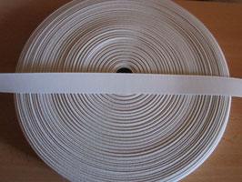 (0,54 €/Meter)  25 mm Breit Gummiband weiß 50 Meter