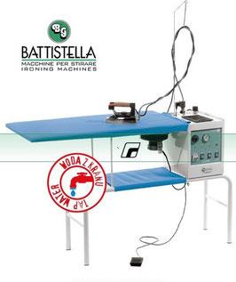 BATTISTELLA VULCANO RECTANGULAR Bügeltisch mit Dampferzeuger und STEAM MASTER-Bügeleisen