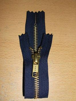 (2,10 € / Stück)   2 Stück Jeanshosen Reißverschlüße 18 cm Farbe : Dunkelblau von YKK