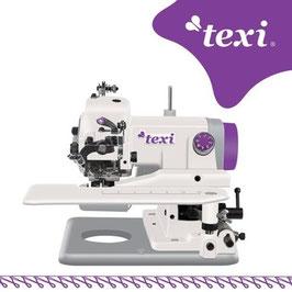 TEXI COMPACTA Universelle, tragbare Blindstichmaschine für leichte und mittlere Stoffe