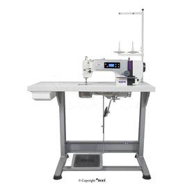 Industrienähmaschine TEXI TRONIC 1 NEO PREMIUM EX  Schnellnäher mit automatischer Nadelpositionierung, Servomotor Bedienfeld  im Kopf