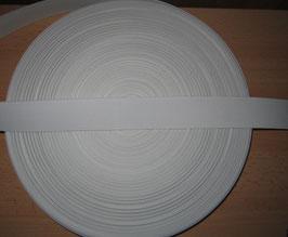 (0,56 €/Meter)  35 mm Breit Gummiband weiß 50 Meter