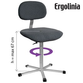 ERGOLINIA 10002 Industrie-Drehstuhl gepolstert